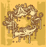 Frame Baroque I. ( grunge version Royalty Free Stock Photo