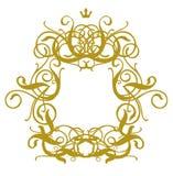Frame Baroque I. Gold Frame On White Background Royalty Free Stock Images