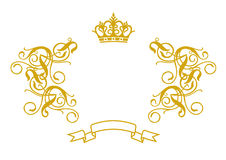Frame Baroque II. (illustration, vector, design, retro, art Royalty Free Stock Photos