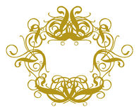 Frame Baroque II. Gold Frame On White Background Royalty Free Stock Images