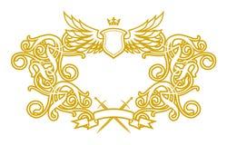 Frame Baroque V. (illustration, vector, design, retro, art Royalty Free Stock Photography
