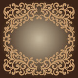 Frame Baroque. Vector illustration Stock Photos