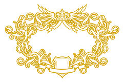 Frame Baroque VI royalty free illustration