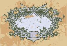Frame Baroque VI. ( grunge version Royalty Free Stock Photo