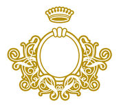Frame Baroque VIII. Gold Frame On White Background Royalty Free Stock Photo