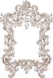 Frame Baroque. Baroque frame on white background Stock Photo