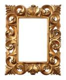Frame barroco de madeira Imagem de Stock Royalty Free