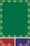 Frame barroco dourado Imagem de Stock
