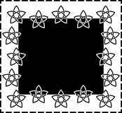 Frame based on a 5-point Celtic star knot Stock Photos
