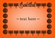 Frame with basketball Stock Images