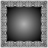 Frame Batik Floral and Swirl Shapes Stock Photos