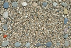 Frame from beach pebbles Royalty Free Stock Photography