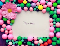 Frame with beads Stock Images