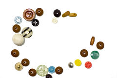 Frame of beads and buttons. Royalty Free Stock Image