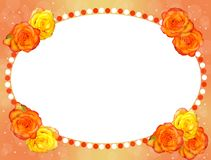 Frame of flowers. png royalty free stock images