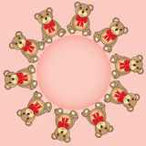 Frame with bears in the vector Royalty Free Stock Photography