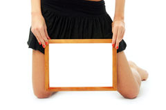 Frame in beautiful hands Royalty Free Stock Images