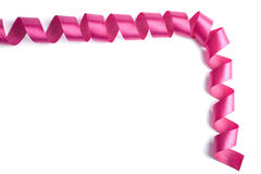 Frame of beautiful pink ribbon Stock Photography