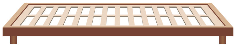Frame bed frame wood Royalty Free Stock Images