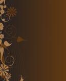 Frame bege e marrom da planta Imagem de Stock Royalty Free