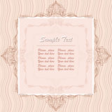 Frame. Beige frame with text and vignettes Stock Photo