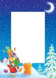 Frame/beira da foto do Natal com Papai Noel ilustração stock