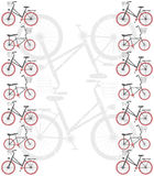 Frame with bicycles. Retro Frame with bicycles for your designs Royalty Free Stock Image