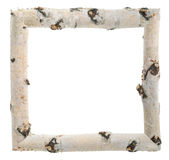 Frame of birch logs Royalty Free Stock Image