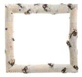 Frame of birch logs Royalty Free Stock Image