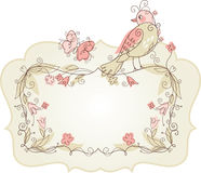 Frame with birds. Greeting card Stock Photography