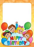 Frame with birthday theme 3 Stock Images
