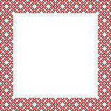 Frame, black, red patterns on canvas Royalty Free Stock Photo