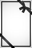 Frame with black ribbon Royalty Free Stock Photos