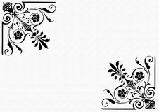 Frame black and white. Illustration,  frame,  decorative black and white borders. See the rest in the series as well Royalty Free Stock Photo