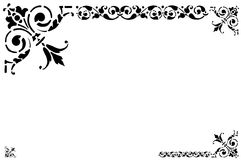 Frame black and white. Illustration,  frame,  decorative borders black coloured with white background. See the rest in the series as well Royalty Free Stock Images