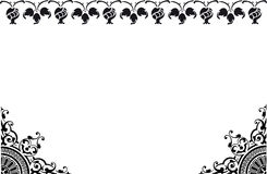 Frame black and white. Illustration,  frame,  decorative borders black coloured with white background. See the rest in the series as well Stock Photo