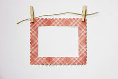 Frame it blank. Hanging frame that may be used with text or drawing inside it stock illustration