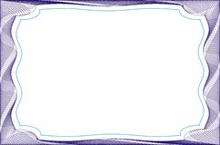 Frame blank template for a certificate Royalty Free Stock Photos