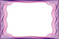 Frame blank template for a certificate Stock Images