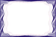 Frame blank template for a certificate Stock Photography