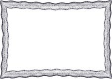Frame blank template for a certificate Stock Photo