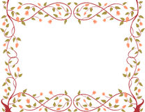 Frame of a blooming tree. Vector floral frame of the decorative tree Stock Photography