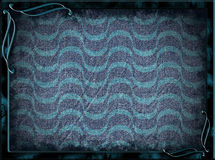 Frame with blue waves and background Royalty Free Stock Image