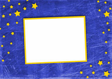 Frame on the blue abstract background Royalty Free Stock Photography