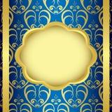 blue background and golden center - vector Stock Photos
