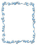 Frame of Blue Checked Ribbons and Bows Royalty Free Stock Image