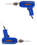 Frame of blue electric drill Royalty Free Stock Photos