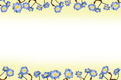 Frame blue flowers Stock Photos