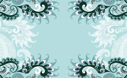 Frame blue paisley style Royalty Free Stock Photos