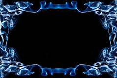 Frame of blue smoke Royalty Free Stock Image
